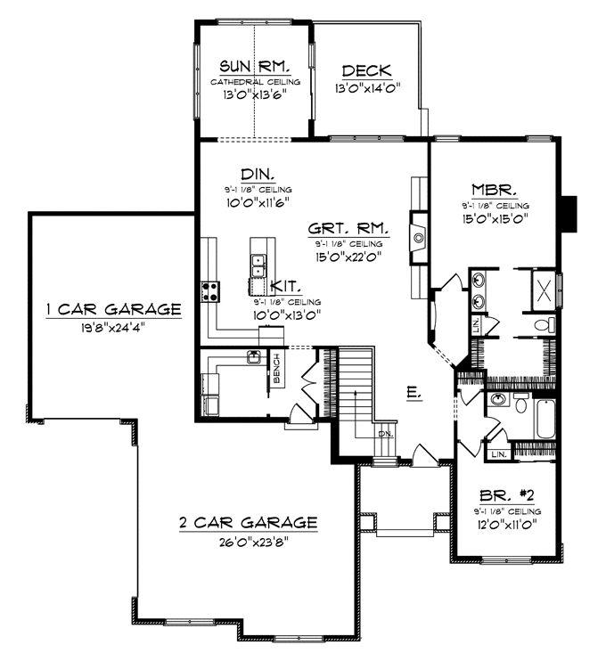 Empty nester plan 1 house plans pinterest house for Luxury empty nester house plans