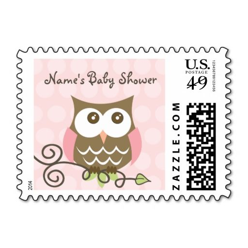Custom owl baby shower postage stamp. Wanna make each letter a special delivery? Try to customize this great stamp template and put a personal touch on the envelope. Just click the image to get started!