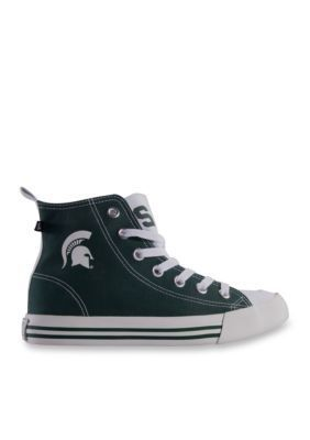 Men's Michigan State University Men's High Top Shoes - Green - 11M