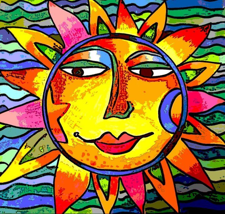 My Sunface ART as seen on CBS Sunday Morning with Charles Osgood !