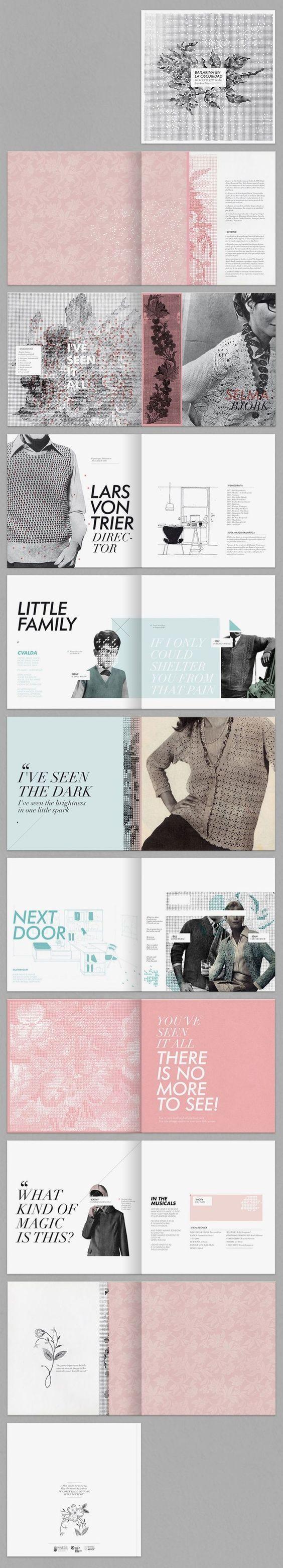 Layout Design` / Karina Cukierman / Dancer in the Dark #graphic #design #editorial::