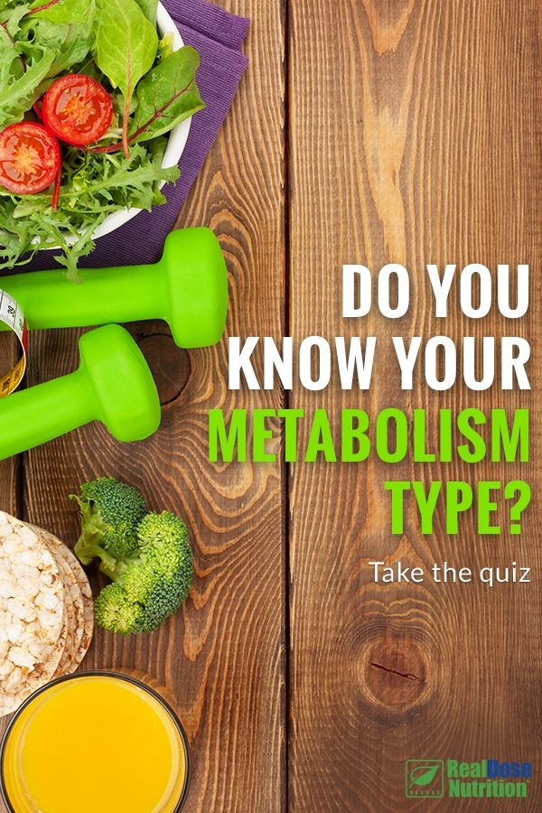 Discover your metabolism type and feed it with the right nutrition. Take the 8 question quiz from RealDose Nutrition and you'll be on your way to understanding how you should eat. #weightlossrecipes