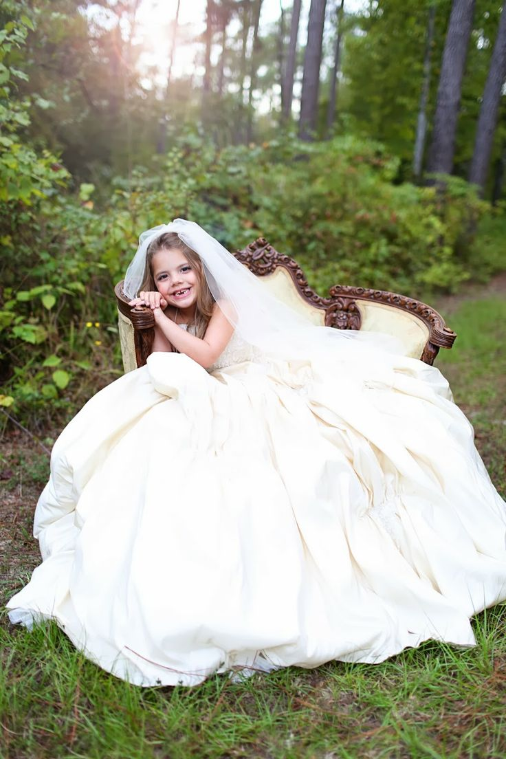 Take a picture of your daughter in your wedding dress for Wedding dresses for child