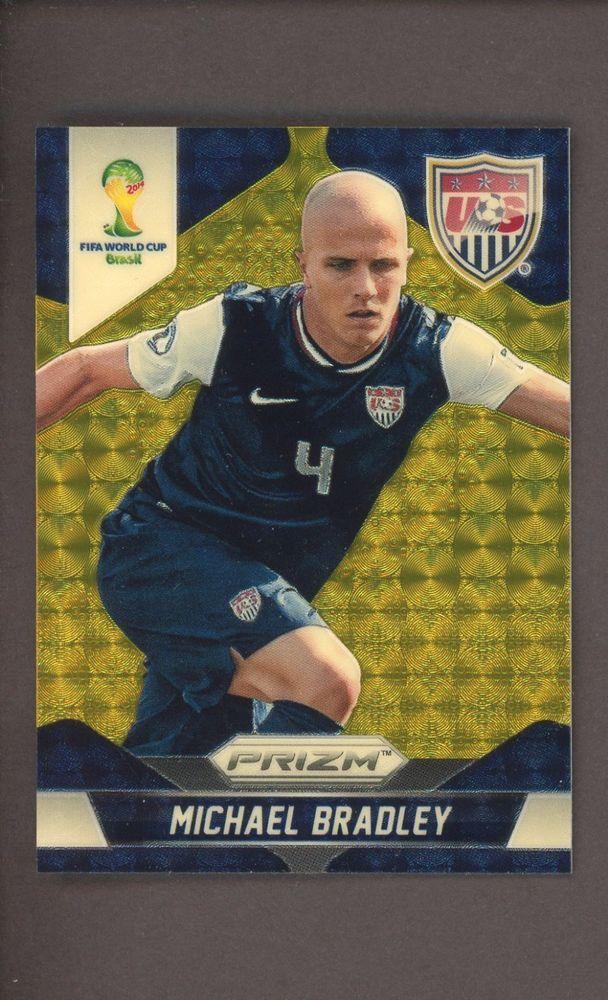 0442b978d 2014 Panini Prizm Soccer Gold Vinyl Michael Bradley USA 2 5  Soccer ...
