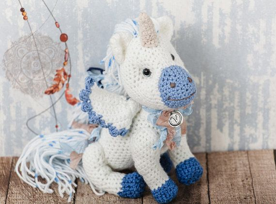 This cute #Unicorn Plushy #Knit #Toy is made of special yarn. The Animal Amigurumi Unicorn Gift will be the most interesting gift for a child or an adult. Each Unicorn Gift Ch... #etsy #crochet #animal #handmade #gift