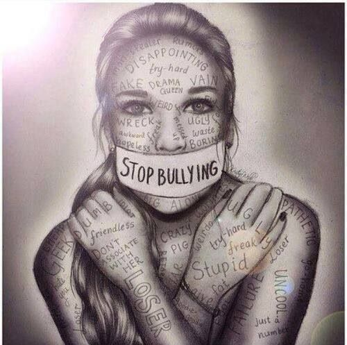 Image result for bullying writing on face
