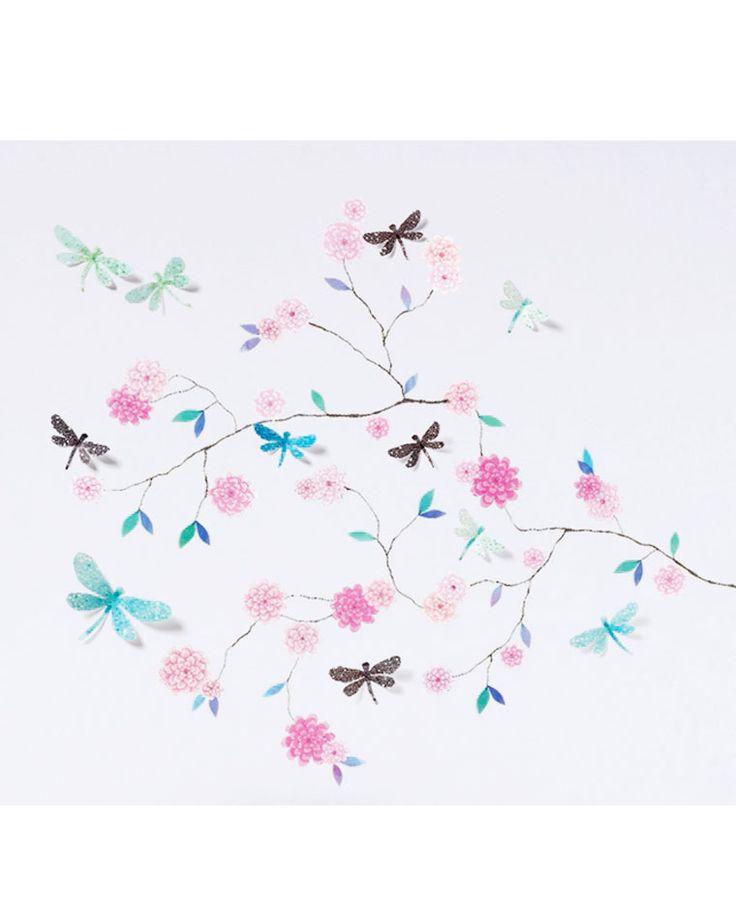 Djeco Dragonflies Tree Wall Stickers || Igloo Kids Clothing