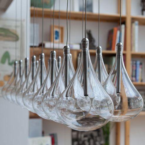 verreries gouttes d 39 eau luminaires pinterest. Black Bedroom Furniture Sets. Home Design Ideas