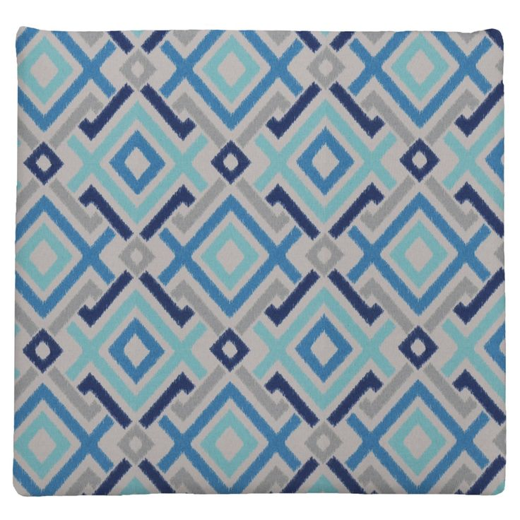 Easy Way Aquatic Print Knife Edge Polyester Outdoor Chair Pad - 11004N-C552