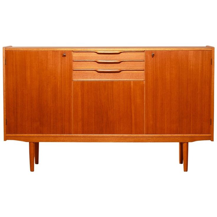 1950s, Teak Sideboard by Bertil Fridhagen for Bodafors | From a unique collection of antique and modern sideboards at https://www.1stdibs.com/furniture/storage-case-pieces/sideboards/