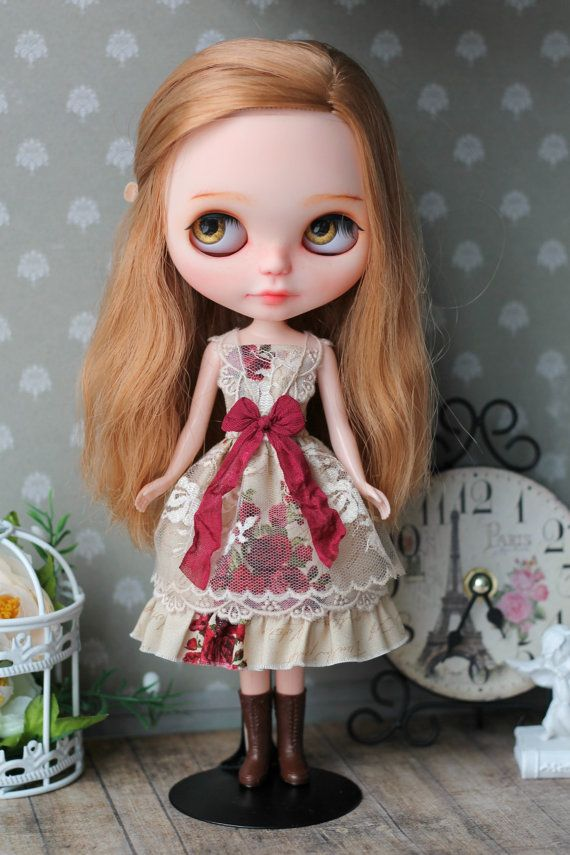 Dress for Blythe doll 1/6 size от ElenaShowRoom на Etsy