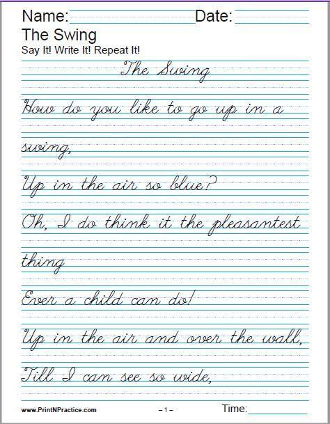 printable handwriting worksheets  u2b50 manuscript and cursive