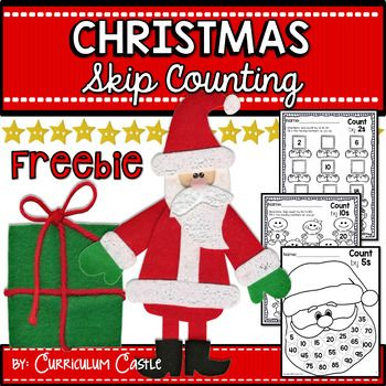 This is our holiday gift to you!Practicing skip counting has never been so much fun! This freebie includes:1. Skip count by 2s to 20 with elf shoes2. Skip count by 5s to 100 with Santa's beard 3. Skip count by 10s to 100 with gingerbread4. Holiday skip counting student assessmentPerfect for K-2!Happy Holidays,Curriculum Castle
