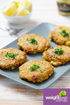 Tuna+Fritters.+#HealthyRecipes+#DietRecipes+#WeightLossRecipes+weightloss.com.au