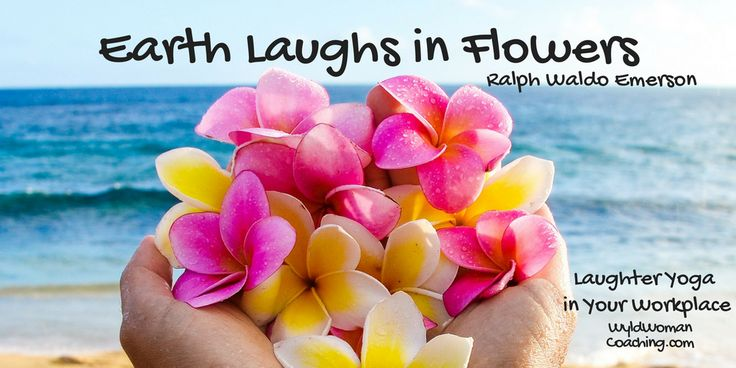 Earth laughs in flowers. Ralph Waldo Emerson #quotes