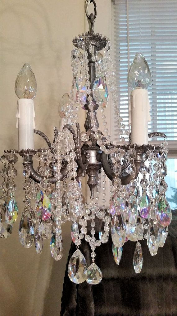 Vintage Jeweled Aurora Borealis Crystal And By Sheriscrystals