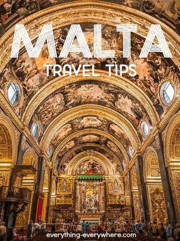 Important info and travel tips to know before visiting the island of Malta in the Mediterranean Sea.