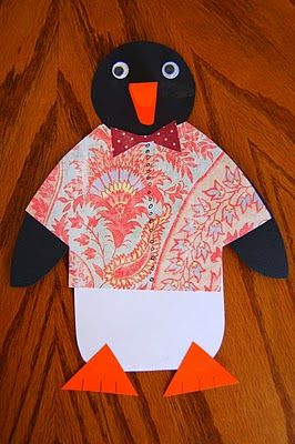Penguin craft project- love this to go with Tacky the penguin