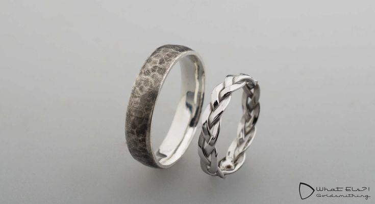 Witgouden en zilveren trouwringen