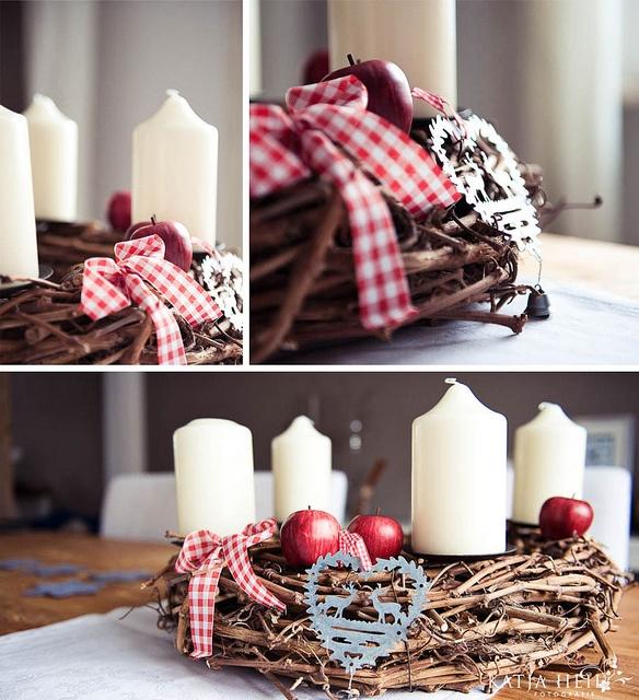 Schlichter Adventskranz mit schönen Details