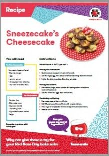 Why not have a go at this fun cheesecake recipe, ready for a Red Nose Day bake sale at your child's school?