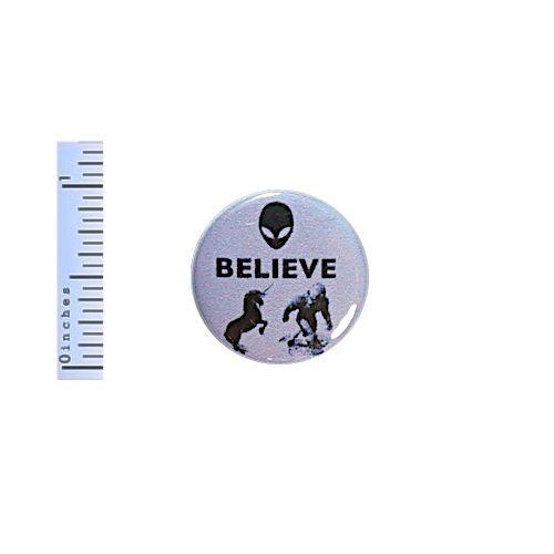 Funny-Button-Believe-Aliens-Bigfoot-Unicorns-Purple-Pinback-1-034-Geekery-Nerdy-Pin