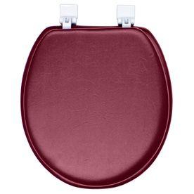 Classique Merlot Red Merlot Red Cushioned Vinyl Round Toilet Seat 0155