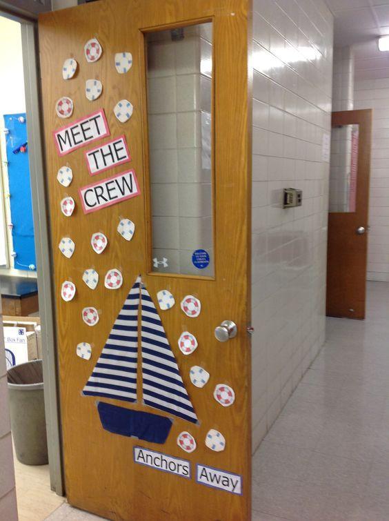 4019 best decorating classroom door images on pinterest for Anchor door decoration