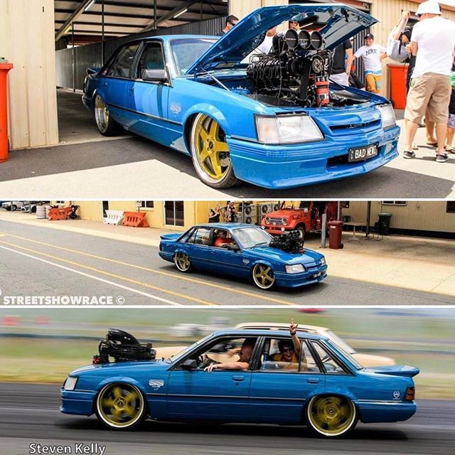 The VK King 👑 #FKN05 #BADNEWZ #HDT #GroupA #VKCommodore #Supercharged #Blown #410ci #Tubbed #FrontAndRear #FR22's #SimmonsWheels #KillerCar #CoverCar #StreetMachineMagazine #BestOfTheBest Never get tired of seeing this car. @alexmacris Photo by @stevenkellyphotography, tag the others.