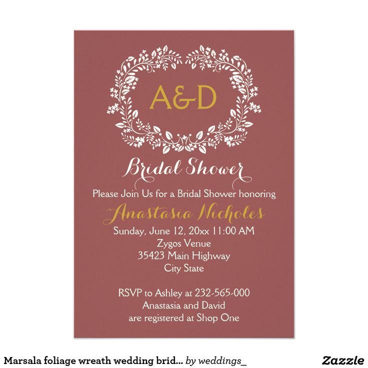 Marsala Foliage Wreath Wedding Bridal Shower