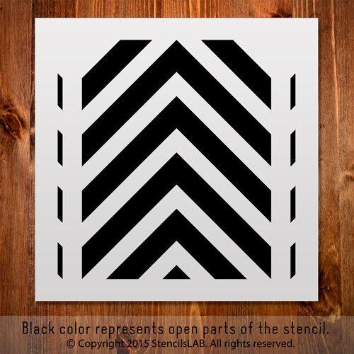 Geometric Stencil For Interior Decor. Small Stencil