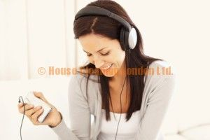 Cute tunes to sing along with the cleaning