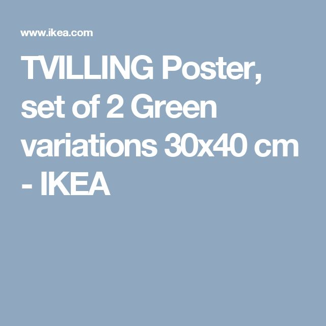 TVILLING Poster, set of 2 Green variations 30x40 cm - IKEA