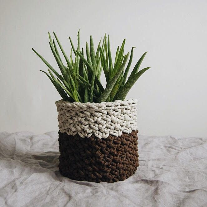 Crochet basket by Dwa Guziki |kosz-natural-DwaGuziki