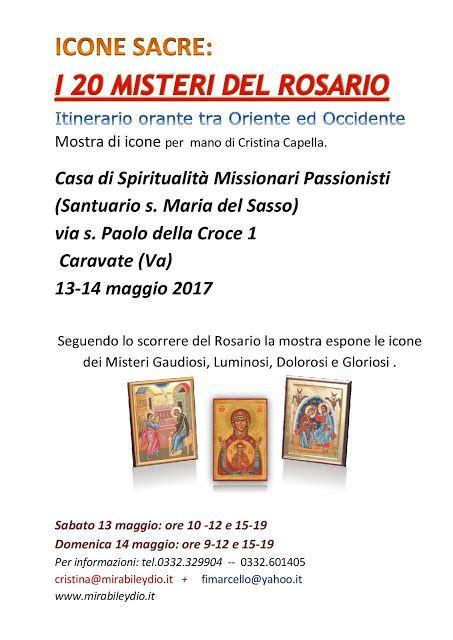 icone sacre-Mirabile Ydio: Mostra di ICONE SACRE a Caravate: I 20 MISTERI DEL...