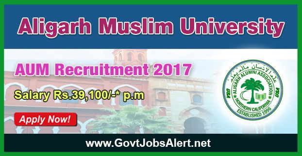 AUM Recruitment 2017 - Hiring Assistant Professor Posts, Salary Rs.39,100/- : Apply Now !!!  The Aligarh Muslim University – AUM Recruitment 2017 has released an official employment notification inviting interested and eligible candidates to apply for the positions of Assistant Professor in Pediatrics and Dermatology. The eligible candidates may apply to the posts in the prescribed format available in official website (given below).