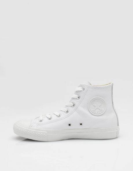 Style - Minimal + Classic : Hi All Star White Leather