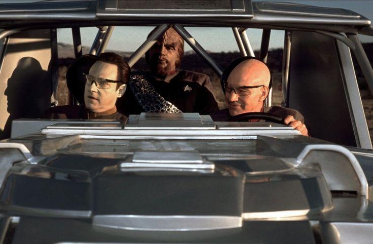Star Trek : Nemesis - Michael Dorn , Brent Spiner , Patrick Stewart in The Argo ATV.