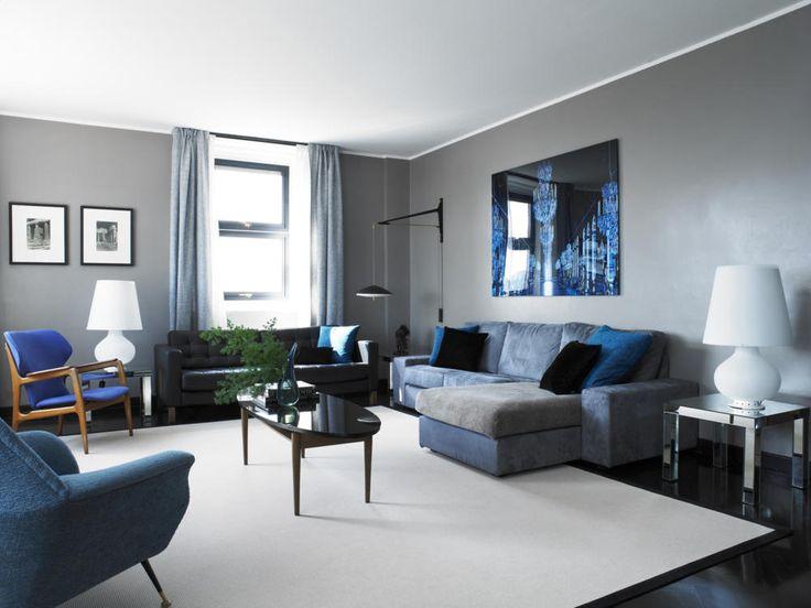 26 best living room images on Pinterest Color combinations, Color - wohnzimmer blau grau