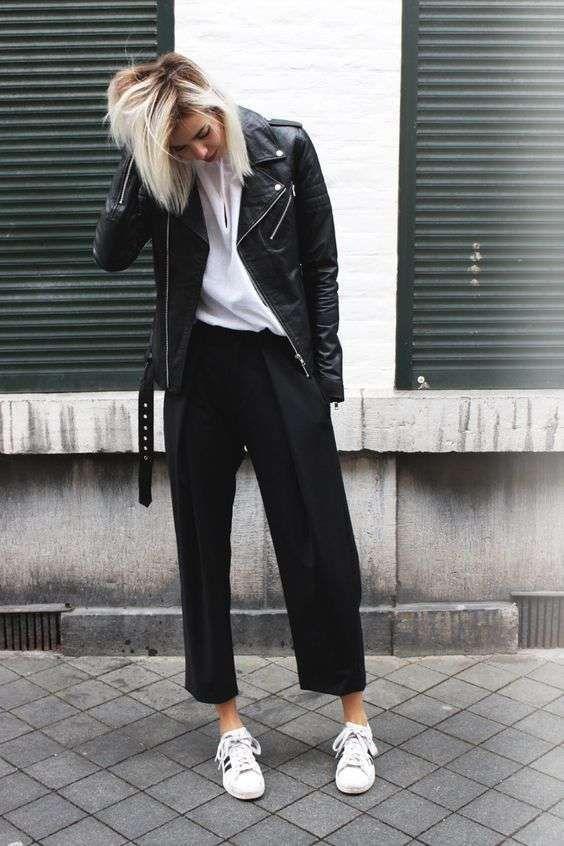 Neri Pantaloni Larghi 2019 Pinterest Come Outfit Abbinare I Nel qOzggWtvB