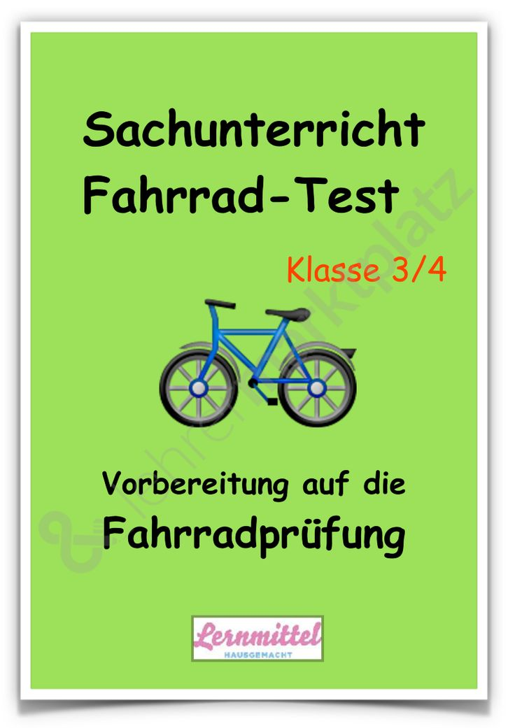 Fahrrad Test - Vorbereitung auf die Fahrradprüfung im Sachunterricht Klasse 3/4 - Seite 1