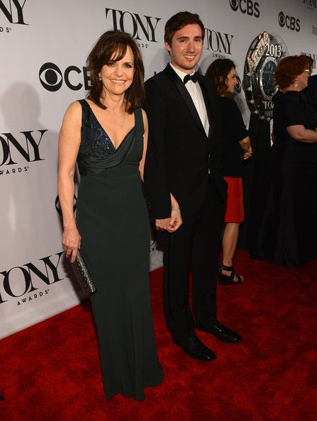 Sally Field Evening Dress - Sally Field wore a dark green gown that featured a draped detail that exposed a beaded accent.