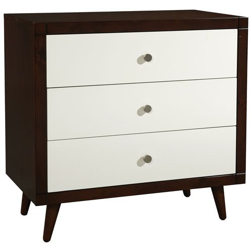 Storkcraft Bays Modern 3 Drawer Kids Dresser White Espresso Nursery Dressers