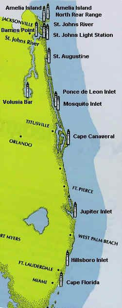 Florida Lighthouse map