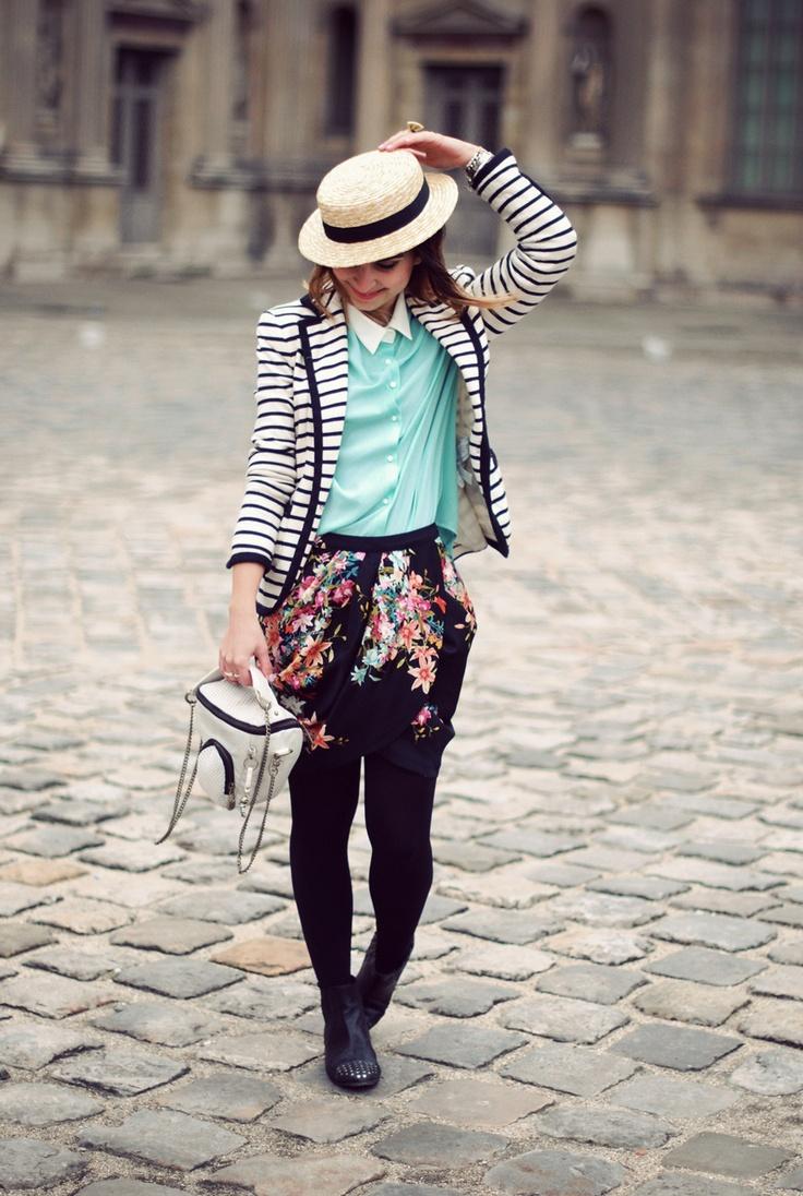floral + mint + stripes