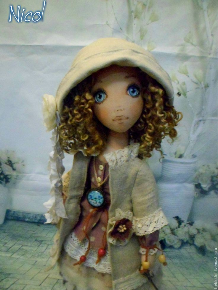Купить По мотивам...Николь. - бежевый, кукла ручной работы, кукла интерьерная, подарок