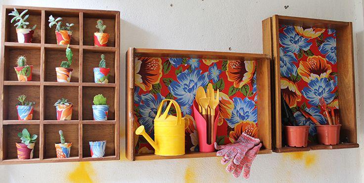Plantas na casa da Leyla e 10 boas ideias para seus vasos Gaveta com chita