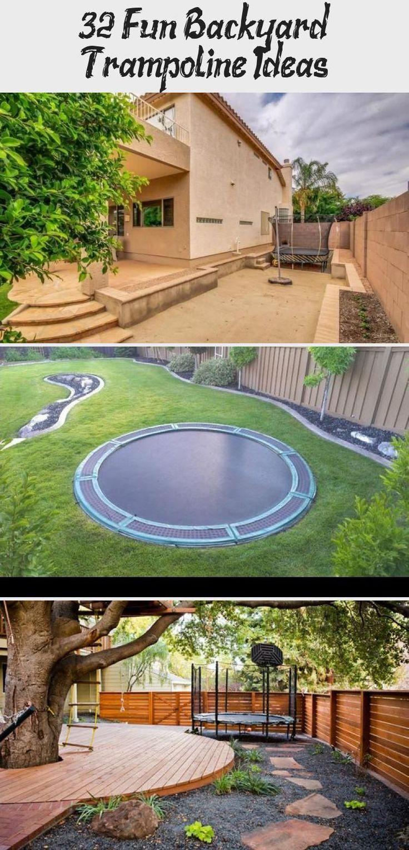 32 Fun Backyard Trampoline Ideas - Backyard İdeas in 2020 ...