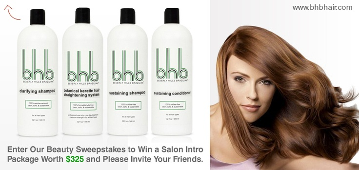 BHB SWEEPSTAKES for All The Fashion Loving Girls!! Register Today and You Have Chance to Win 32.oz Salon Intro Package Worth $325! http://www.bhbhair.com/sweepstake/
