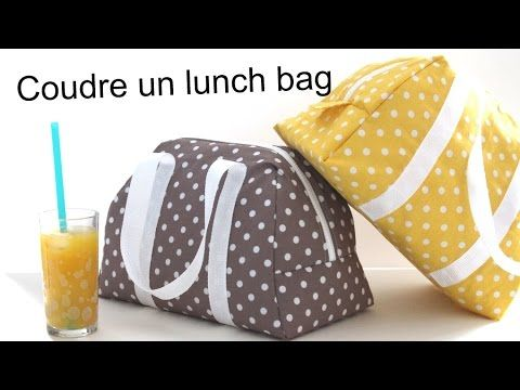 Coudre le lunch bag Elsa - sac isotherme - YouTube